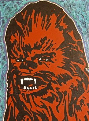 David Mihaly; Chewbacca, 2016, Original Mixed Media, 18 x 24 inches. Artwork description: 241 Laugh it up, Fuzzball...