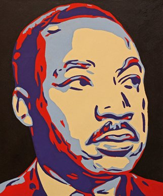 David Mihaly; Dr Martin Luther King Jr, 2017, Original Painting Acrylic, 20 x 24 inches.