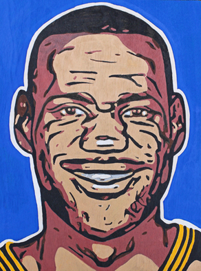 David Mihaly, Lebron James, 2017, Original Painting Acrylic, size_width{Lebron_James-1492654105.jpg} X 16 inches