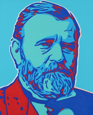 David Mihaly; U S Grant, 2017, Original Painting Acrylic, 20 x 24 inches. Artwork description: 241 Contemporary pop art portrait of President Grant...