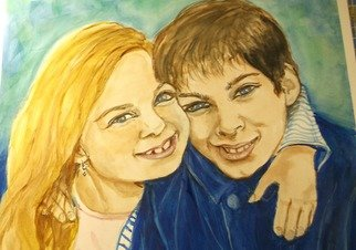 Lenore Schenk; Brother And Sister, 2014, Original Watercolor, 16 x 20 inches. Artwork description: 241              Watercolor painting on illustration board , from photos,                                           ...