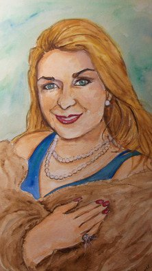 Lenore Schenk; Joy In Pearls, 2014, Original Watercolor, 16 x 20 inches. Artwork description: 241                          Watercolor painting on illustration board , from photos, I can work from your Photos.                                                      ...
