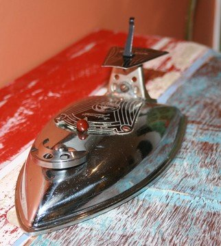 Phil Schubert; Cruiser, 2011, Original Sculpture Steel, 12 x 10 cm. Artwork description: 241  Old style Cruiser    ...