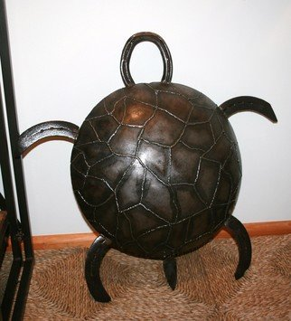 Phil Schubert; Mertle the Turtle, 2011, Original Sculpture Steel, 35 x 12 cm. Artwork description: 241  Mertle the Turtle     ...