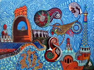 Alberto Sciortino, Dream of GAUDI, 2009, Original Painting Acrylic,    cm