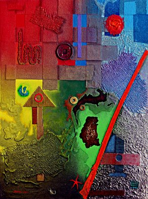 Alberto Sciortino, estudio textura - color 1, 2012, Original Mixed Media,    cm
