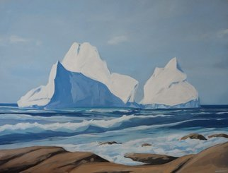 Scott Mackenzie; Coastal Iceberg, 2016, Original Painting Oil, 40 x 30 inches. Artwork description: 241 Icebergs are an incredible sight every year when they migrate from the Arctic.  Their sheer size can be daunting, and thats not even counting the ninety- percent still unseen below the surface.  ...