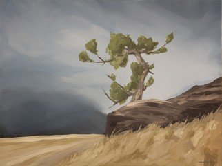 Scott Mackenzie; Looking West, 2020, Original Painting Oil, 40 x 30 inches. Artwork description: 241 Looking West features an ancient Limber Pine perched atop a rocky outcrop, weathered through the years but still standing tall overlooking the mountains. ...