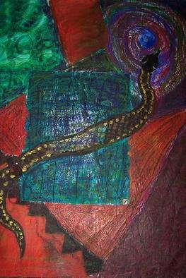 Susan Link; Healing, 2000, Original Mixed Media, 18 x 28 inches. Artwork description: 241    Snake as a symbol of healing and rebirth. A snake sheds its skin but does not die. ...