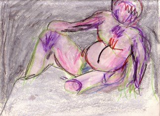 Susan Link; Untitled, 2008, Original Drawing Other,   inches. Artwork description: 241  mixed media figure study. Crayons, chalk pastels and watercolor pencil ...