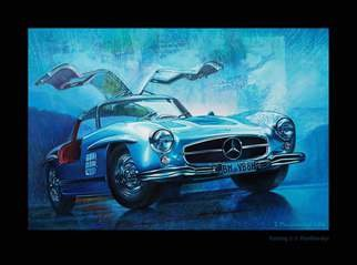 Sergei Piontkovskyi; 300sl, 2016, Original Painting Acrylic, 70 x 50 cm. Artwork description: 241  300sl ...
