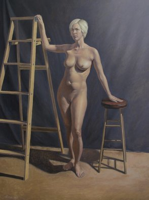 Seidai Tamura; Becca, 2010, Original Painting Oil, 18 x 24 inches. Artwork description: 241    figurative, nudes, representational, realism, classical, female   ...
