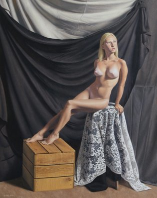 Seidai Tamura; Dani, 2010, Original Painting Oil, 16 x 20 inches. Artwork description: 241     figurative, nudes, representational, realism, classical, female    ...