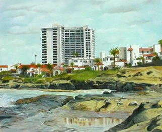 Lynette Seiter; City By The Sea, 2008, Original Painting Oil, 24 x 20 inches. Artwork description: 241  A San Diego beach showing the high rise resorts and houses along the shore. ...
