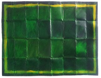 Lavih Serfaty; Green Forest, 2011, Original Mixed Media, 100 x 70 cm. Artwork description: 241   In my aluminium paintings, I creates a rigid grid that orchestrates the various components of the painting. By regulates and dictates order. I decides where one component starts and where it ends. However, the grid has a more essential role in this work. aEURoeThe grid is not ...