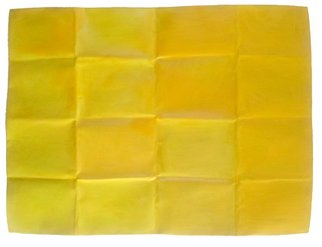 Lavih Serfaty; Yellow Chakra, 2011, Original Mixed Media, 100 x 70 cm. Artwork description: 241  My creations are on folded aluminium. I creates a rigid grid that orchestrates the various components of the painting. aEURoeThe grid is not just a layout or an underlying design, it is an inherent part of the work, and in this series, it is actually present in ...