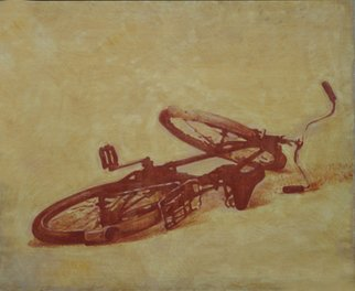 Serge Rull; Bicycle, 2000, Original Painting Oil, 120 x 100 cm. Artwork description: 241  Painting Oil, Bicycle ...