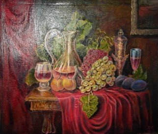 Sergio Sofronoff; Still Life With The Grapes, 2021, Original Painting Oil, 58 x 45 cm. Artwork description: 241 oil on canvas...