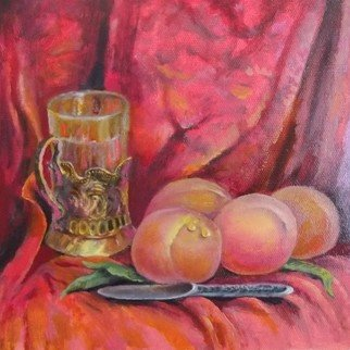 Sergio Sofronoff; Still Life With The Peaches, 2021, Original Painting Oil, 30 x 26 cm. Artwork description: 241 oil on canvas...
