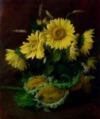 Dmitry Sevryukov; Sunflowers, 2012, Original Painting Oil, 50 x 60 cm. Artwork description: 241 Unlike modernists - the end of the 19th century and modern - I see the sunflowers differently. ...