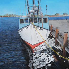 Steven Fleit, , , Original Painting Acrylic, size_width{newburyport_fishing_boat-1549989044.jpg} X 24 inches