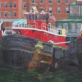 Steven Fleit; Portsmouth Tugboat, 2018, Original Painting Acrylic, 20 x 20 inches. Artwork description: 241 One of the iconic tugboats located in Portsmouth, NH. ...