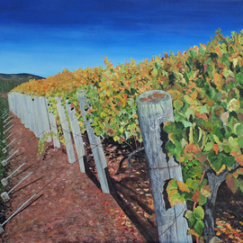 Steven Fleit, , , Original Painting Acrylic, size_width{sonoma_vineyard_2-1523287652.jpg} X 30 inches