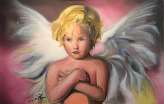 Stephen Fusco; Angel, 2013, Original Painting Other, 36 x 24 inches. Artwork description: 241           This is acrylic airbrush and oil, on board        ...