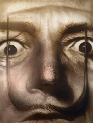 Stephen Fusco; Hello Dali, 2014, Original Painting Other, 18 x 24 inches. Artwork description: 241                This is an airbrush portrait of Salvadore Dali, done with Createx Illustration airbrush paint on aluminum sign blank.            ...