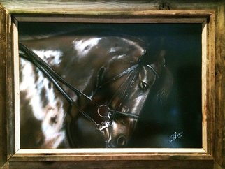 Stephen Fusco; Horse, 2014, Original Painting Other, 25 x 24 inches. Artwork description: 241               This is acrylic airbrush on board, cleared with high gloss automotive clear, framed.           ...