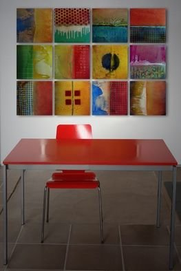 Steven Derks; Gridscapes, 2008, Original Painting Other, 62 x 48 inches. Artwork description: 241  Enamel on aluminum ...