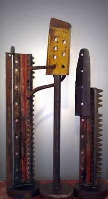 Steven Derks; Steel Sculpture, 2008, Original Sculpture Steel, 52 x 54 inches. Artwork description: 241  Rusted Steel ...