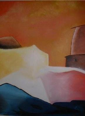 Joseph Priser; Seaside, 2004, Original Painting Acrylic, 36 x 48 inches. Artwork description: 241 From my Italy series...
