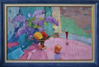 Alexander Shandor; Near The Window, 2020, Original Painting Oil, 72 x 42 cm. Artwork description: 241 Near the window _ oil on cardboard...