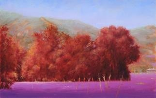 Shanee Uberman; A DAY IN THE FIELD, 2013, Original Painting Oil, 14 x 9 inches. Artwork description: 241  The lavender fields of spring.        ...