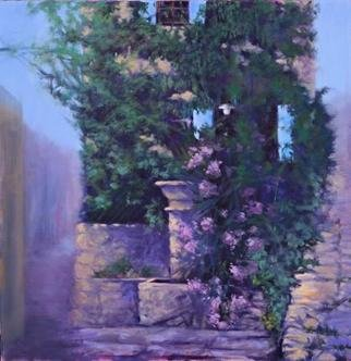 Shanee Uberman; THE HEART OF TOWN, 2013, Original Painting Oil, 24 x 24 inches. Artwork description: 241  Provence, the town is Saignon. an ancient village with ruins that date back many centuries. There is something so soothing and magical about a town that changes very little in thousands of years. The fountain in town flows with fresh spring water, always a gathering place for ...