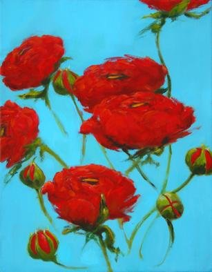 Shanee Uberman; Poppy Red, 2009, Original Painting Oil, 8 x 10 inches. Artwork description: 241  a color saturated canvas, i hope you see all the beauty in our world, i know we have darkness, it can overwhelm at times. . . please, see the magnificent bright colorful world we live in ...