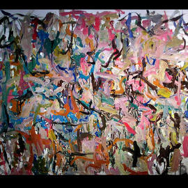 Richard Lazzara, , , Original Painting Oil, size_width{ANCIENT_ROCK_CARVINGS-1048792249.jpg} X 51 inches