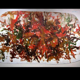 Richard Lazzara, , , Original Painting Oil, size_width{CENTRAL_PARK_LEAVES-1048626411.jpg} X 40 inches