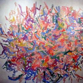 Richard Lazzara, , , Original Painting Oil, size_width{GRINDHI_KNOT-1048627178.jpg} X 58 inches