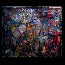 Richard Lazzara, , , Original Painting Oil, size_width{PETROGLYPHS-1048796373.jpg} X 56 inches