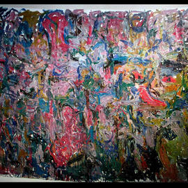 Richard Lazzara, , , Original Painting Oil, size_width{THOUSANDS_OF_YEARS_AGO_CAVE_ART-1048791445.jpg} X 65 inches