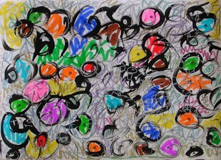 Richard Lazzara; Wild Man 6149, 2008, Original Calligraphy, 23 x 16.5 inches. Artwork description: 241  Art for the Soul by