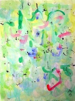 Richard Lazzara, Baba window of light, 1975, Original Calligraphy, size_width{a_touch-1106681744.jpg} X 24 inches