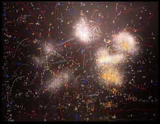 Richard Lazzara, Baba window of light, 1985, Original Calligraphy, size_width{city_capsules_glow_at_night-1084801755.jpg} X 19 inches