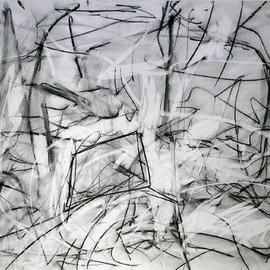 Richard Lazzara, , , Original Drawing Charcoal, size_width{floating_planes_of_reality_meeting-1108751162.jpg} X 24 inches