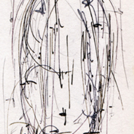 Richard Lazzara, , , Original Calligraphy, size_width{formless_lingam_drawing-1337603695.jpg} X 6 inches