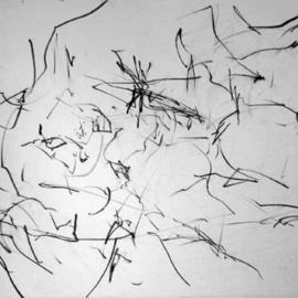 Richard Lazzara, , , Original Drawing Charcoal, size_width{new_image_space_deconstruction_order-1108752099.jpg} X 24 inches
