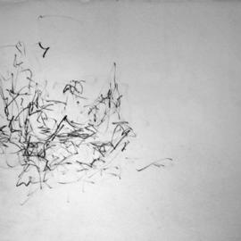 Richard Lazzara, , , Original Drawing Charcoal, size_width{reclining_in_time-1108752998.jpg} X 24 inches