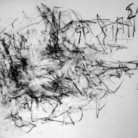 Richard Lazzara, , , Original Drawing Charcoal, size_width{resting_on_background-1108753237.jpg} X 24 inches